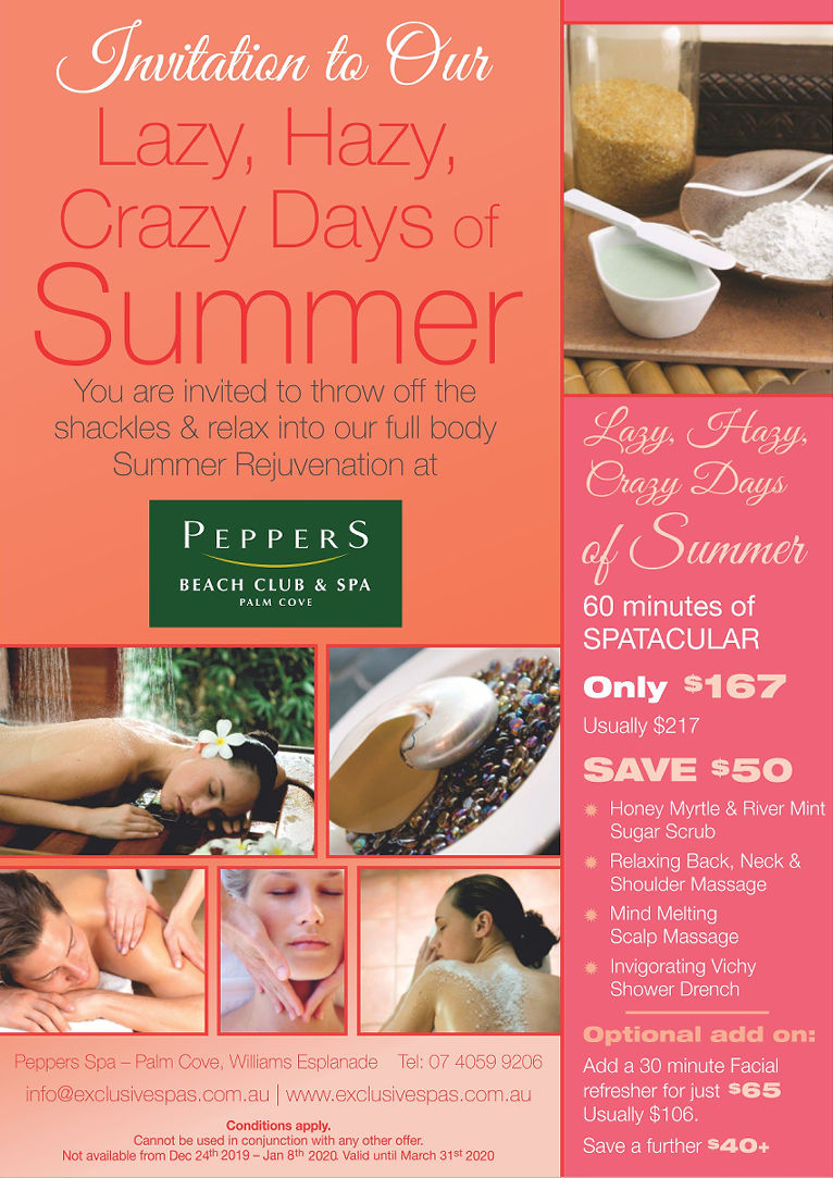 Palm Cove Spa Peppers Lazy Days Package