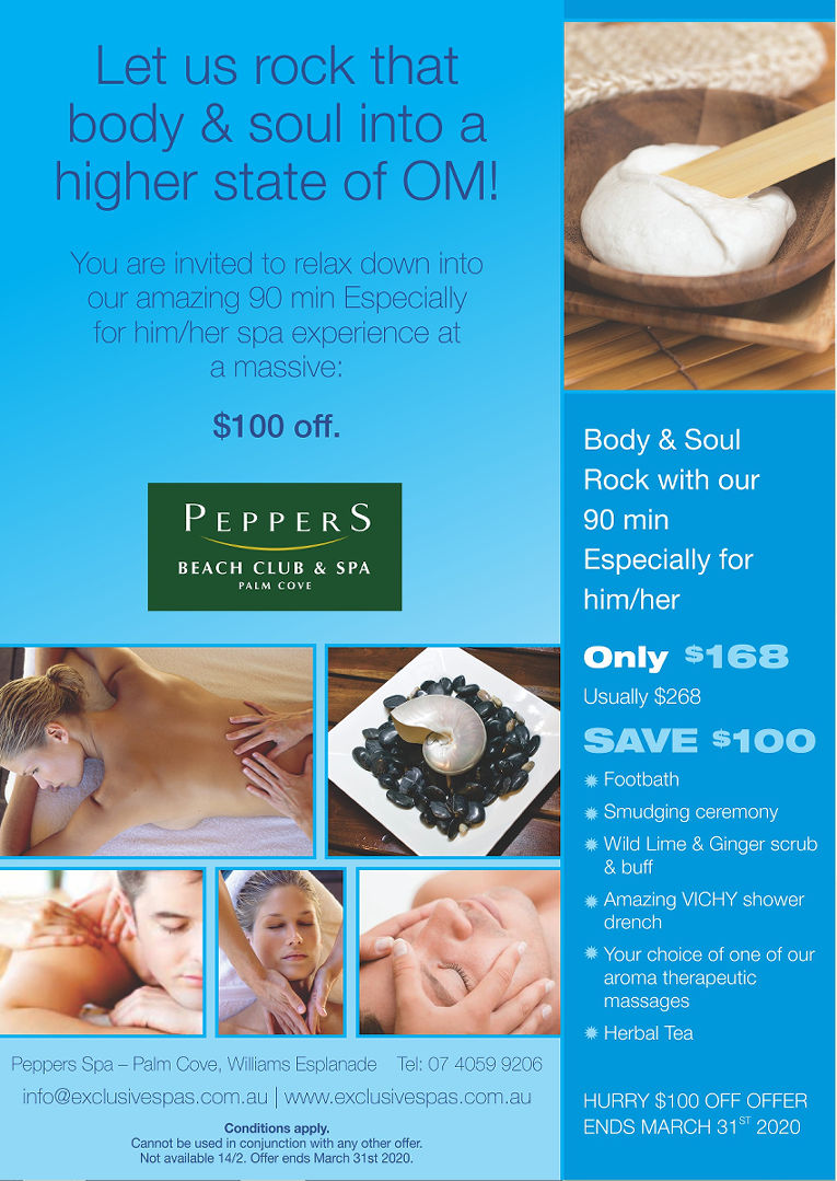 Palm Cove Spa Peppers OM Package