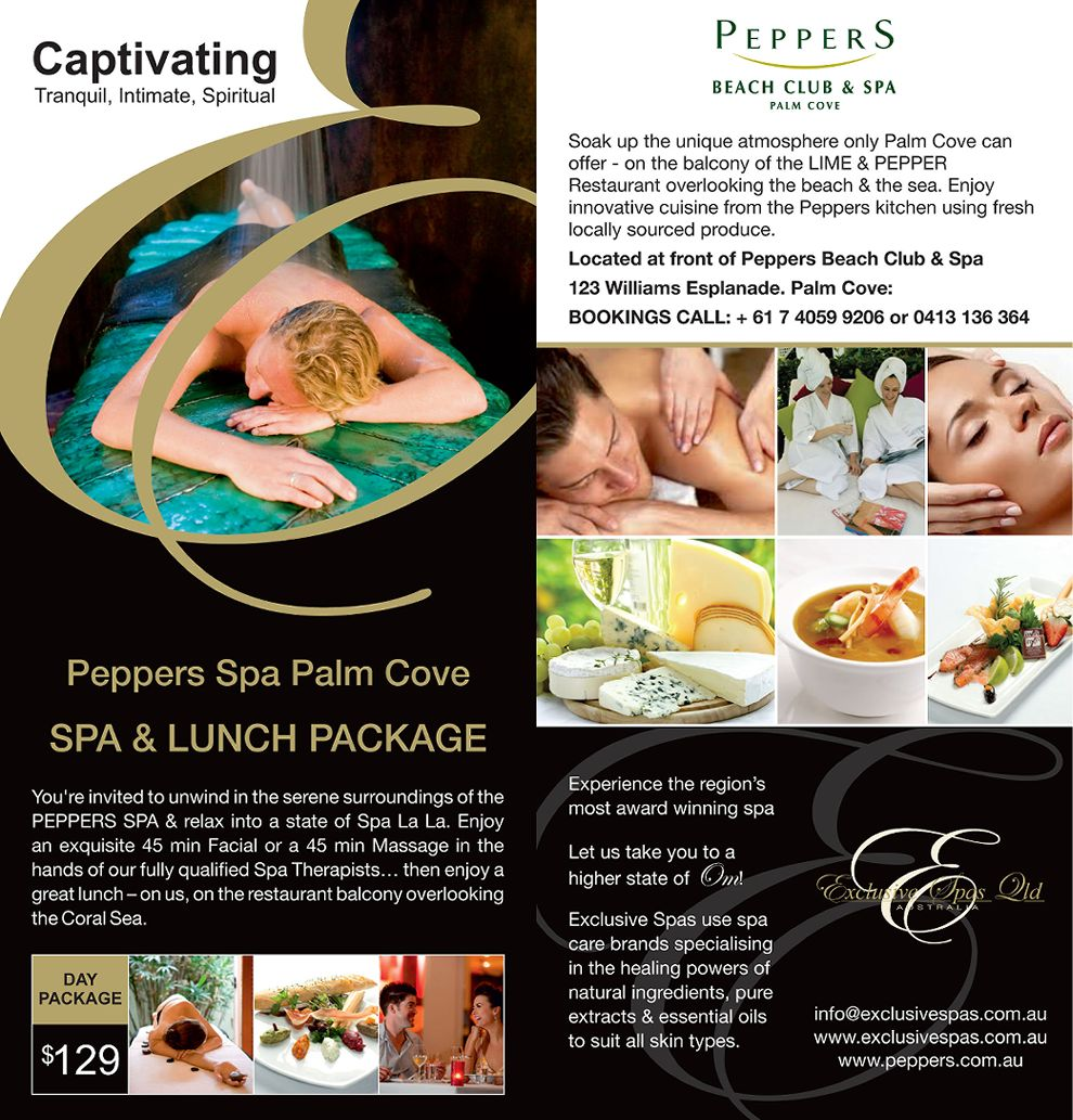 GPalm Cove Spa Peppers Spa/Lunch Package
